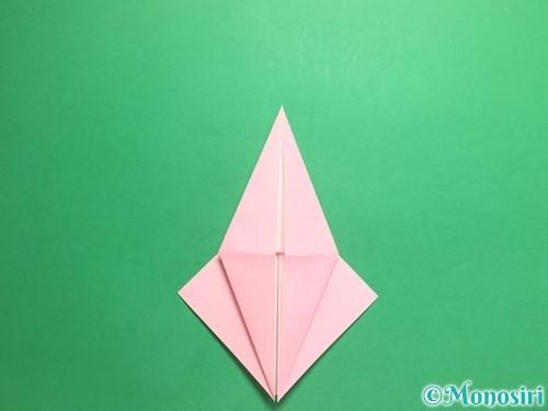折り紙で羽ばたく鳥の折り方手順16