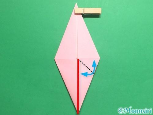 折り紙で羽ばたく鳥の折り方手順18