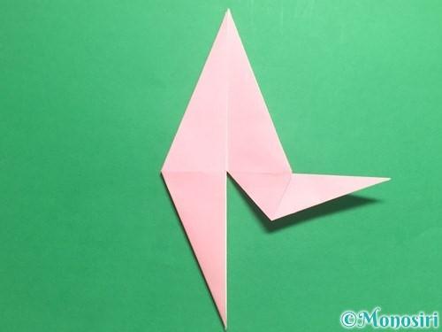 折り紙で羽ばたく鳥の折り方手順23