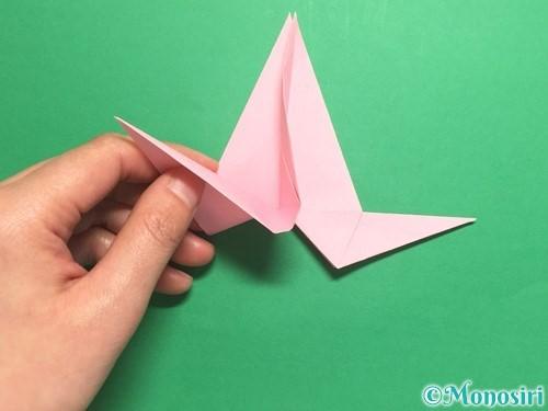 折り紙で羽ばたく鳥の折り方手順27