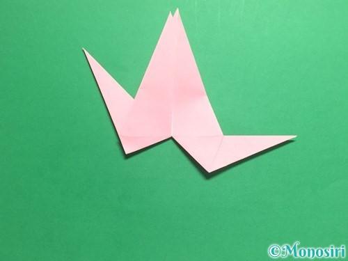 折り紙で羽ばたく鳥の折り方手順28