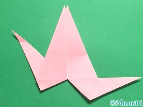 折り紙で羽ばたく鳥の折り方手順30