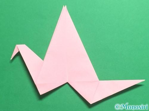折り紙で羽ばたく鳥の折り方手順33