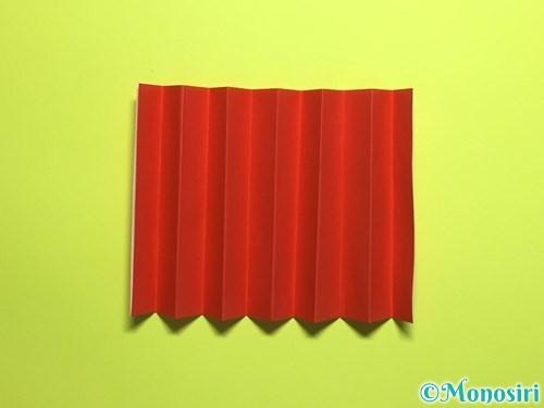 折り紙で立体的なカーネーションの作り方手順11