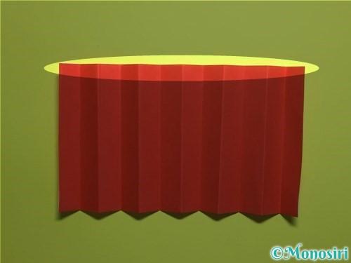 折り紙で立体的なカーネーションの作り方手順12