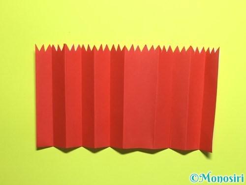 折り紙で立体的なカーネーションの作り方手順13