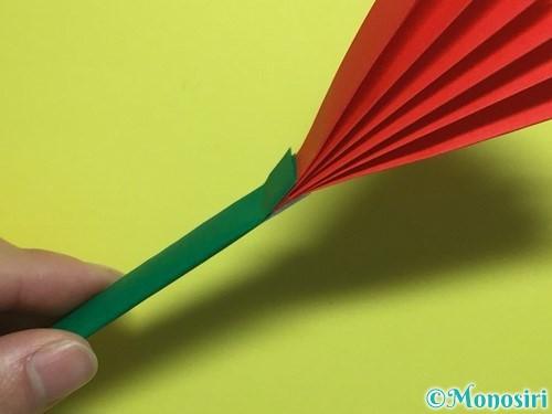 折り紙で立体的なカーネーションの作り方手順22