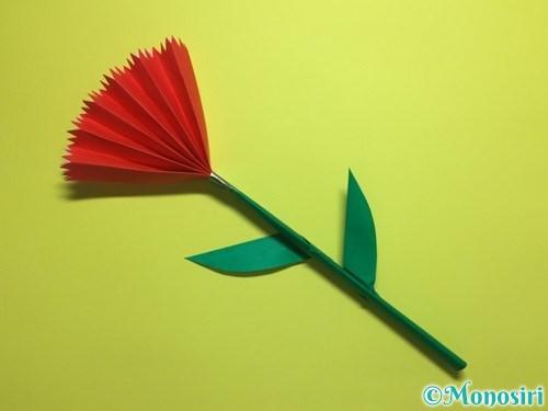 折り紙で立体的なカーネーションの作り方手順25