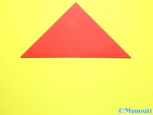 折り紙で平面カーネーションの作り方手順2