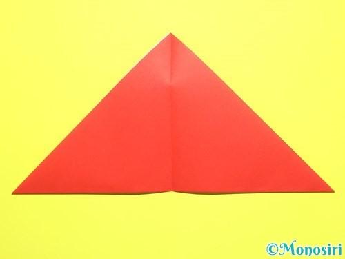 折り紙で平面カーネーションの作り方手順4