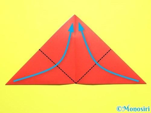 折り紙で平面カーネーションの作り方手順5