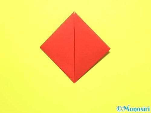 折り紙で平面カーネーションの作り方手順6
