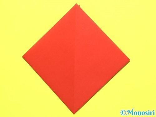 折り紙で平面カーネーションの作り方手順7