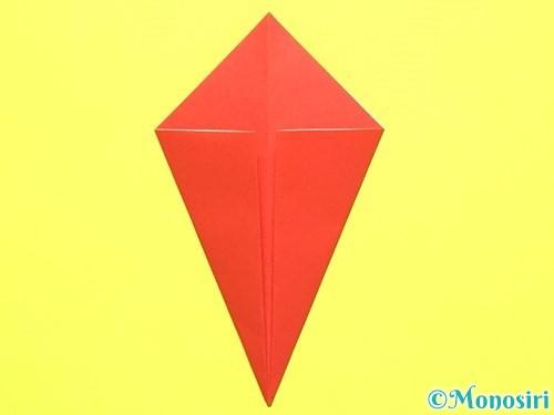 折り紙で平面カーネーションの作り方手順9