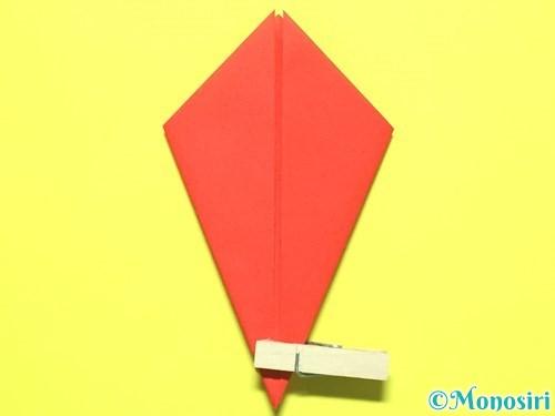 折り紙で平面カーネーションの作り方手順10