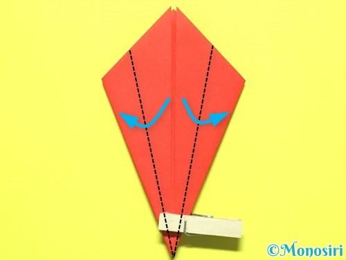 折り紙で平面カーネーションの作り方手順11