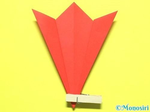 折り紙で平面カーネーションの作り方手順12