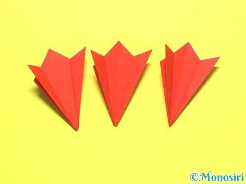 折り紙で平面カーネーションの作り方手順13
