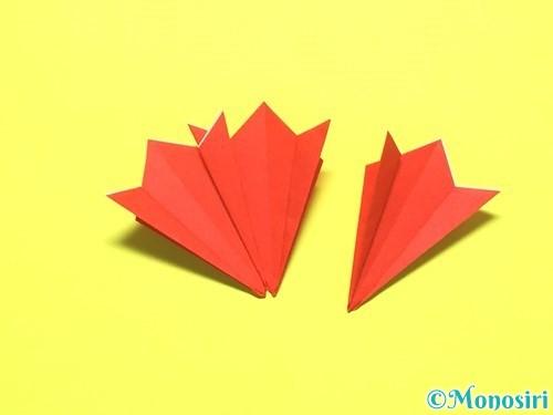 折り紙で平面カーネーションの作り方手順15