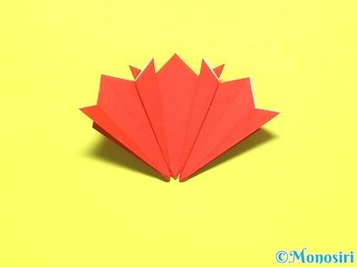 折り紙で平面カーネーションの作り方手順16