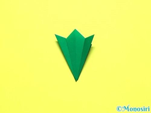 折り紙で平面カーネーションの作り方手順18