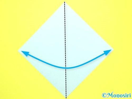 折り紙で平面カーネーションの作り方手順32