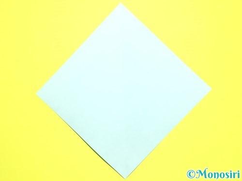 折り紙で平面カーネーションの作り方手順33