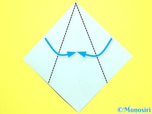 折り紙で平面カーネーションの作り方手順34