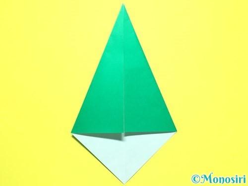 折り紙で平面カーネーションの作り方手順35