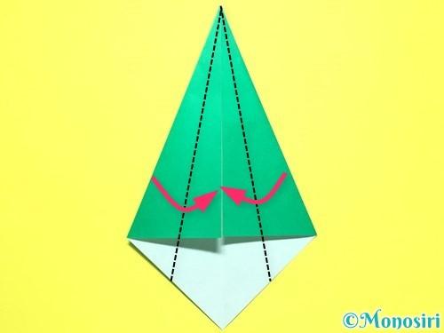 折り紙で平面カーネーションの作り方手順36