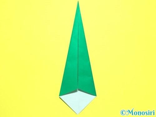 折り紙で平面カーネーションの作り方手順37