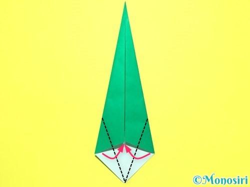 折り紙で平面カーネーションの作り方手順38