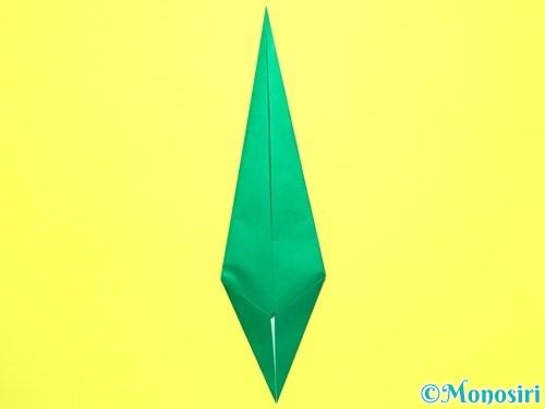折り紙で平面カーネーションの作り方手順39