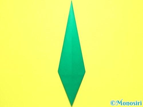 折り紙で平面カーネーションの作り方手順40