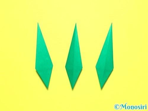 折り紙で平面カーネーションの作り方手順41