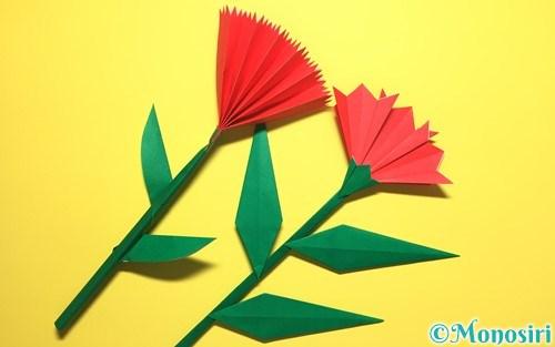折り紙で作ったカーネーション