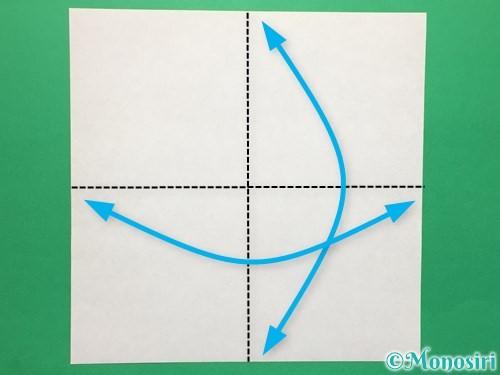 折り紙でハートの指輪の折り方手順1