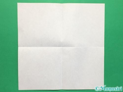 折り紙でハートの指輪の折り方手順2