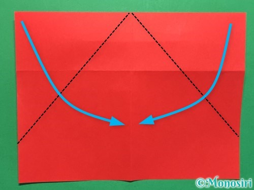 折り紙でハートの指輪の折り方手順10