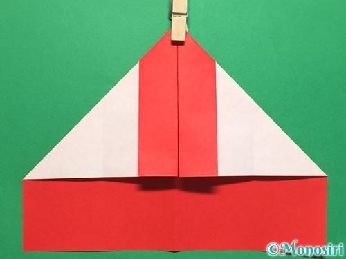 折り紙でハートの指輪の折り方手順11