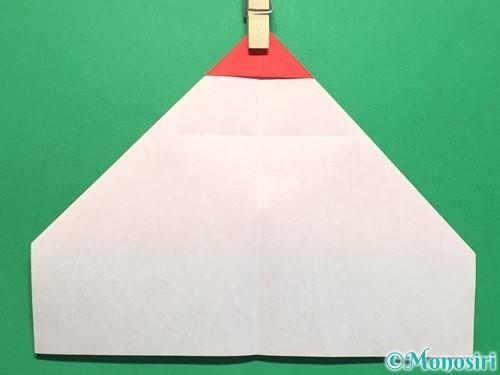 折り紙でハートの指輪の折り方手順12