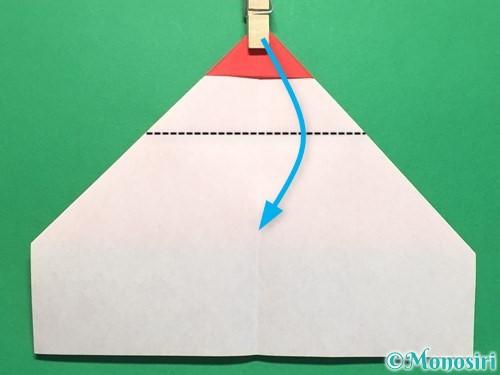 折り紙でハートの指輪の折り方手順13