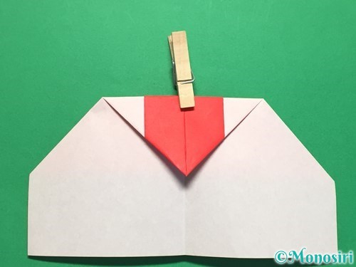 折り紙でハートの指輪の折り方手順14