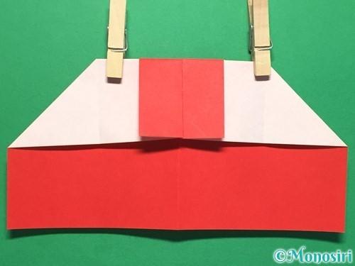 折り紙でハートの指輪の折り方手順15
