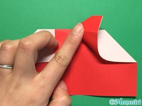 折り紙でハートの指輪の折り方手順17