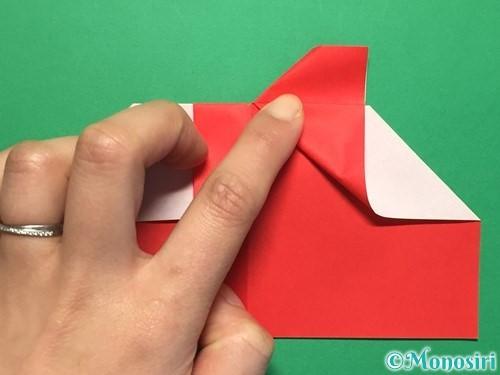 折り紙でハートの指輪の折り方手順18
