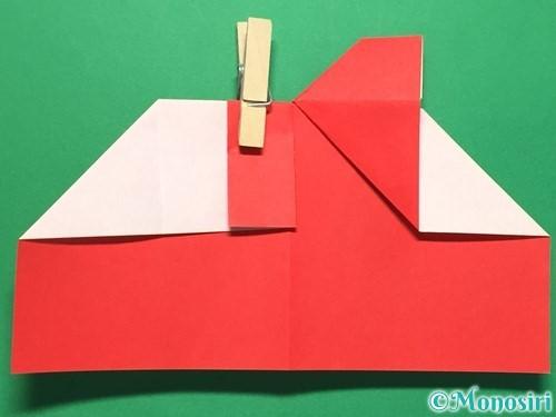 折り紙でハートの指輪の折り方手順19