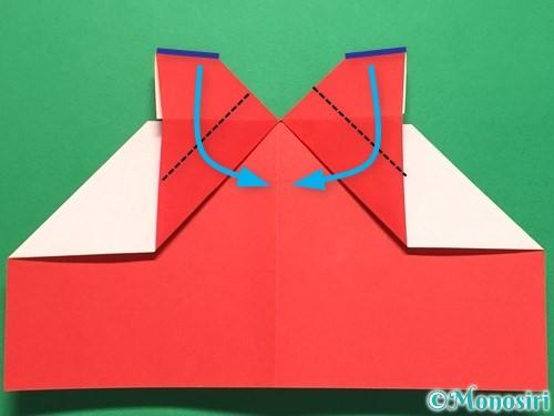 折り紙でハートの指輪の折り方手順21