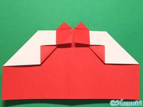 折り紙でハートの指輪の折り方手順22