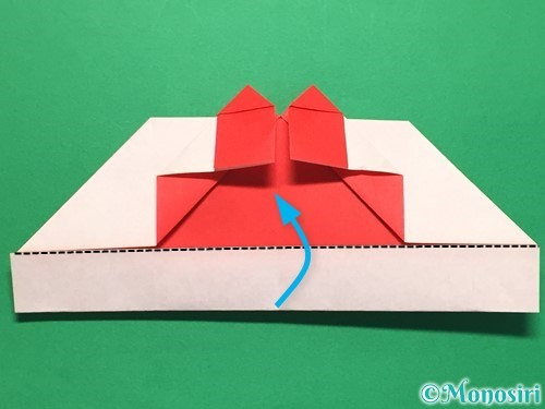 折り紙でハートの指輪の折り方手順25